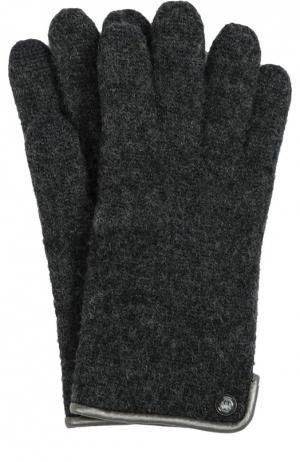 Перчатки из шерсти Roeckl. Цвет: черный