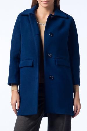 Пальто Guita. Цвет: синий