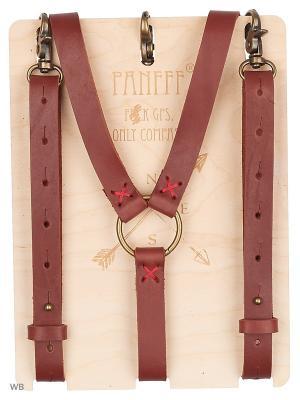 Подтяжки-портупея PANFFF. Цвет: коричневый