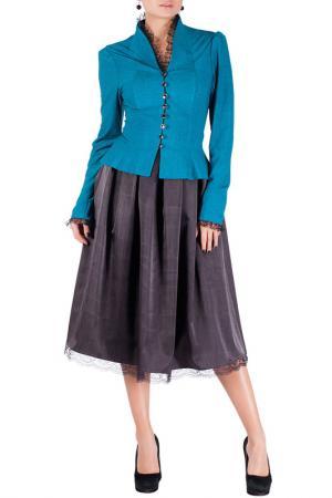Комплект с юбкой Mannon. Цвет: голубой