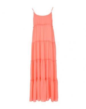Длинное платье LOVE MOSCHINO. Цвет: коралловый