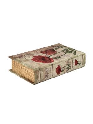 Шкатулка Маки Русские подарки. Цвет: темно-серый