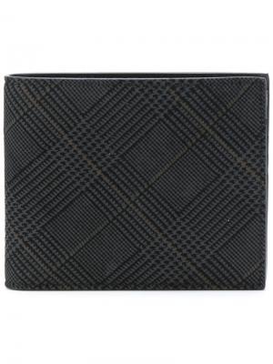 Check print wallet Canali. Цвет: чёрный