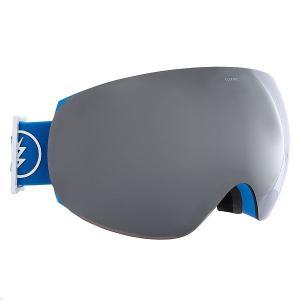 Маска для сноуборда  Eg3 Royal Blue+Black/Brose/Silver Chrome Electric. Цвет: голубой