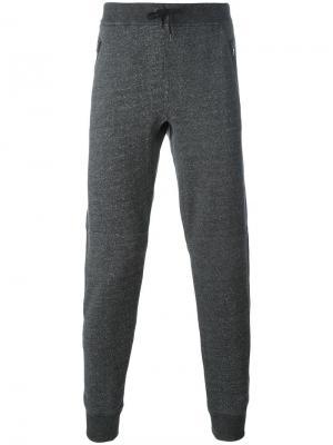 Спортивные штаны на завязках John Varvatos. Цвет: чёрный