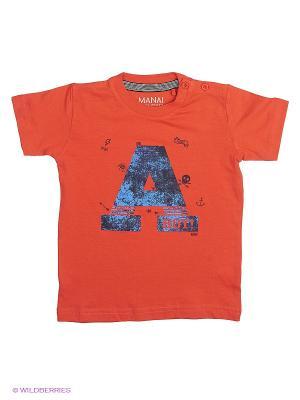 Футболка MANAI. Цвет: оранжевый
