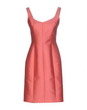 Платье до колена DICE KAYEK. Цвет: коралловый