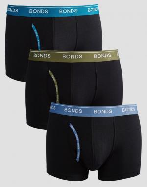 Bonds Комплект из 3 боксеров-брифов. Цвет: мульти