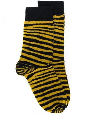 Носки в полоску Stella McCartney. Цвет: жёлтый и оранжевый