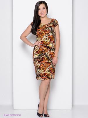 Платье ARBOR VITAE. Цвет: оранжевый, желтый