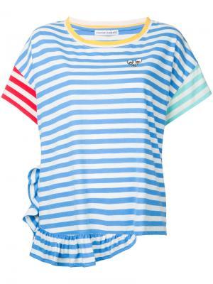 Полосатая футболка Tsumori Chisato. Цвет: синий