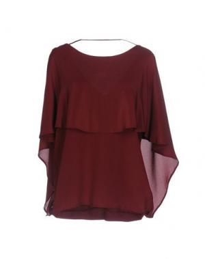 Блузка FALCON & BLOOM. Цвет: красно-коричневый