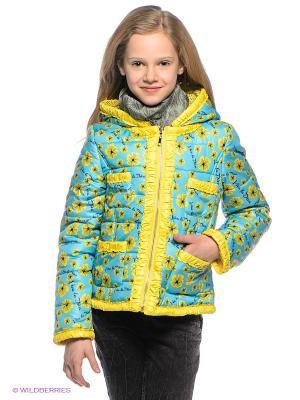 Куртка PELICAN. Цвет: голубой, желтый