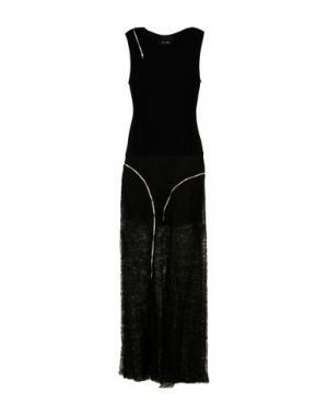Длинное платье JAY AHR. Цвет: черный