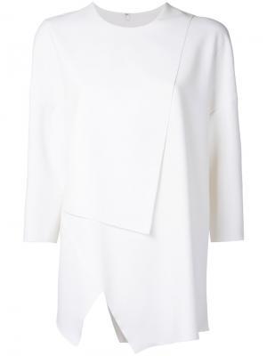 Асимметричная блузка Enföld. Цвет: белый