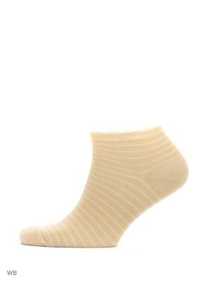 Носки укороченные из гребенного хлопка (3 пары) HOSIERY. Цвет: бежевый