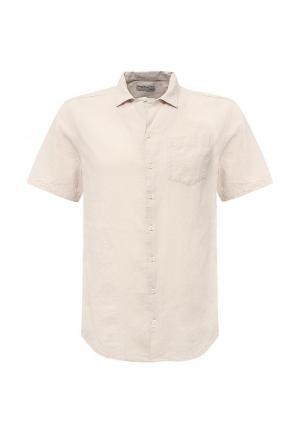 Рубашка Piazza Italia. Цвет: бежевый