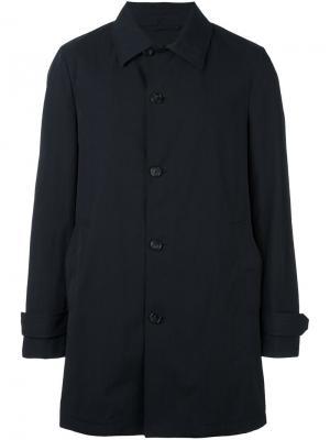 Пальто на пуговицах Z Zegna. Цвет: синий