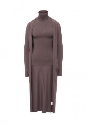 Твинсет Conso Wear. Цвет: коричневый