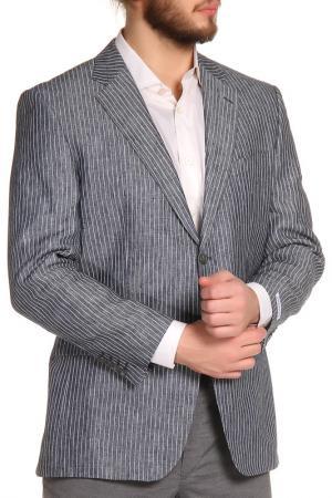 Пиджак Dormeuil. Цвет: серый, белая полоска