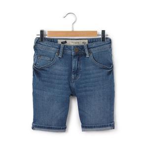 Бермуды джинсовые,  8-16 лет PETROL INDUSTRIES. Цвет: синий индиго