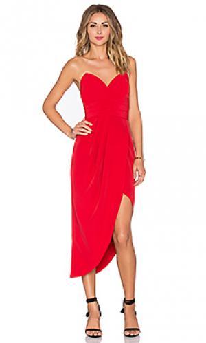 Платье без бретель riviera Lovers + Friends. Цвет: красный