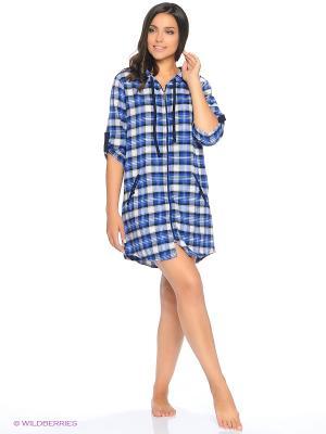 Рубашка NICOLETTA. Цвет: синий