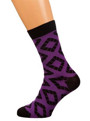 Носки Хох. Цвет: фиолетовый
