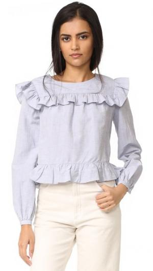Блуза Meki Jill Stuart. Цвет: небесный