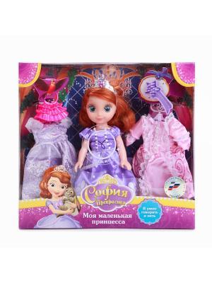 Кукла Карапуз Disney принцесса София 15см озвуч., с набором одежды.. Цвет: фиолетовый, розовый