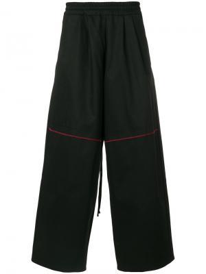 Широкие брюки Komakino. Цвет: чёрный