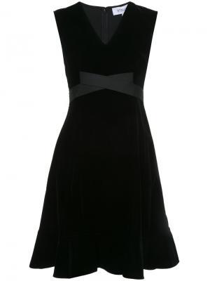 Расклешенное платье с поясом без рукавов Derek Lam 10 Crosby. Цвет: чёрный