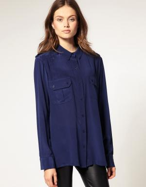 Kookai Оверсайз-рубашка. Цвет: синий