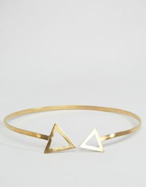 Made Металлическое ожерелье с треугольниками. Цвет: золотой