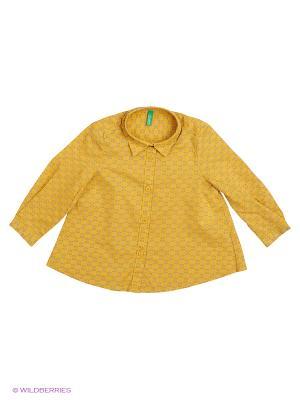 Рубашка United Colors of Benetton. Цвет: горчичный