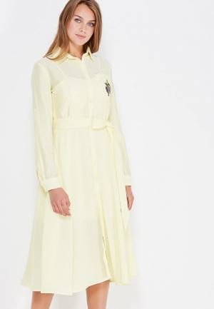 Платье Clabin. Цвет: желтый