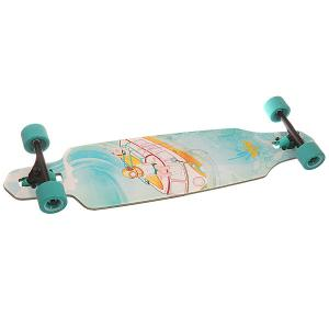 Лонгборд  S6 Sunken Drop-through Longboard Turquoise 9.375 x 38 (96.5 см) Dusters. Цвет: голубой