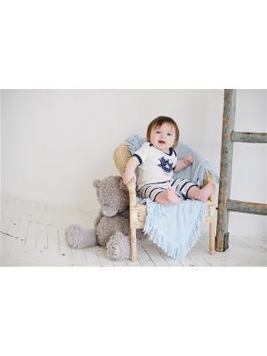 Шорты Котики Lucky Child. Цвет: синий, молочный