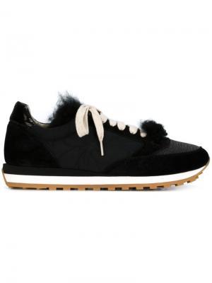Кроссовки с меховой панелью Brunello Cucinelli. Цвет: чёрный