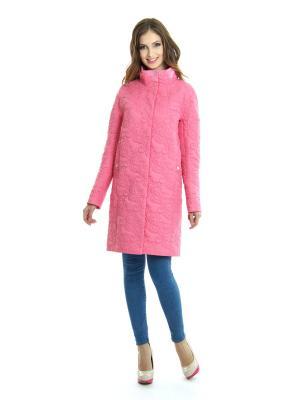 Пальто Lanicka. Цвет: розовый