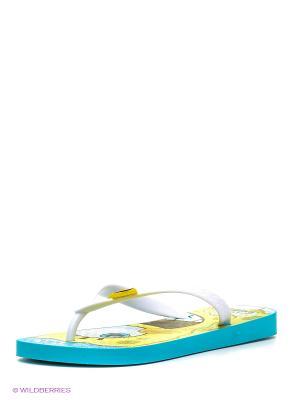 Шлепанцы Ipanema. Цвет: голубой, белый, желтый