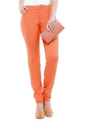 Брюки ANTIGA. Цвет: оранжевый