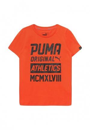 Футболка Puma. Цвет: оранжевый