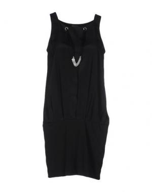 Короткое платье LORENA ANTONIAZZI. Цвет: черный