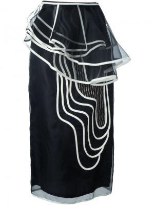 Юбка с геометрическим принтом Antonio Marras. Цвет: чёрный