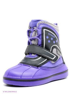 Полусапожки CROCS. Цвет: фиолетовый, серый