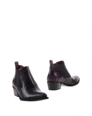 Полусапоги и высокие ботинки F.LLI BRUGLIA. Цвет: фиолетовый