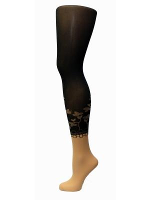 Колготки Фантазия, модель ADELE 04 MONA. Цвет: темно-коричневый, светло-коричневый