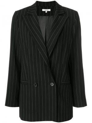 Пиджак в полоску Ganni. Цвет: чёрный