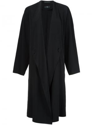 Объемное пальто Ys Y's. Цвет: чёрный